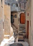 Santorini house. House in Emporio village, Santorini Royalty Free Stock Image