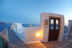 Santorini house in Oia, Greece Stock Image