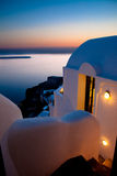Santorini House at Sunset Stock Image