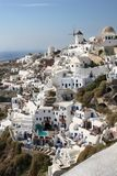 Santorini Houses Stock Photos