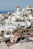 Santorini Houses Stock Images