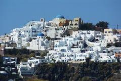 Santorini i Oia na morzu egejskim Obrazy Stock