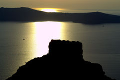 Santorini sunset impression  Royalty Free Stock Image