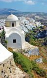 Santorini Insel, Fira Stadt Stockfotos