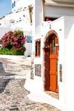 Santorini-Insel, Griechenland, Ägäisches Meer, Europa Details der traditionellen cycladic Architektur, eine der schönsten Reise lizenzfreie stockfotografie