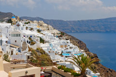 Santorini Insel. Griechenland Lizenzfreie Stockfotos