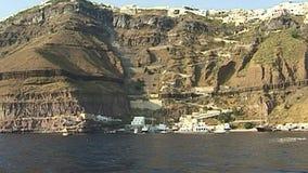 Santorini-Insel im Ägäischen Meer Griechenland stock video