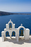 Santorini Insel, Landschaft Lizenzfreie Stockfotografie