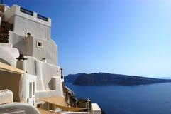 Santorini Insel Oia-Ansicht Lizenzfreie Stockfotos