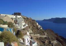 Santorini-Inselansicht Stockfotos
