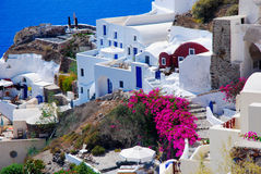 Santorini iskand, Greece. Beautiful view of Santorini island, Greece Royalty Free Stock Photo
