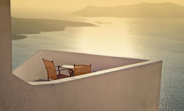 Santorini islad in Greece during sunset Royalty Free Stock Photo