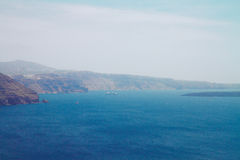 Santorini island  and Aegan sea Stock Photography