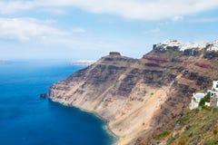 Santorini island and Aegan sea Royalty Free Stock Photos