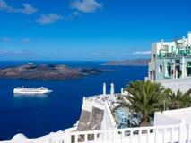 Santorini island. Amazing Santorini island summer view, Cyclades, Greece Royalty Free Stock Images
