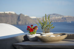 Santorini island, beautiful decoration details Royalty Free Stock Photography