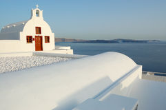 Santorini island church view royalty free stock images
