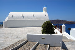 Santorini island  church view Royalty Free Stock Photography