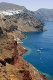Santorini island coastline Stock Photography