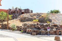 Santorini island,Crete,Greece. Ruins and archaeological site in Fira Stock Photography