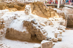 Santorini island,Crete,Greece. Ruins and archaeological site Royalty Free Stock Image