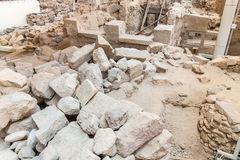 Santorini island,Crete,Greece. Ruins and archaeological site Stock Photography