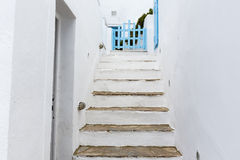 Santorini island in Cyclades, classical view of sights in fira Royalty Free Stock Photo