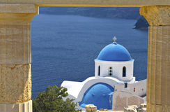 Santorini island in the Cyclades, Greece Stock Photo