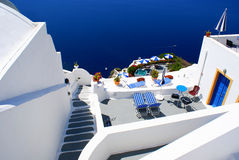 Santorini island in Greece Stock Photography