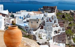 Santorini island in Greece Royalty Free Stock Photos