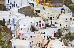 Santorini island in Greece Stock Image