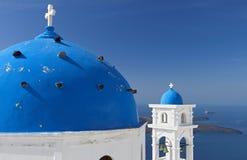 Santorini island in Greece Stock Images