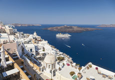 Santorini island in Greece Stock Photo