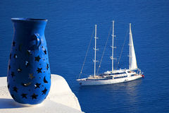 Santorini island in Greece Royalty Free Stock Photo