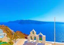 In Santorini island in Greece Stock Photos