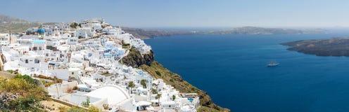 Santorini island, Greece. Beautiful landscape with sea view Royalty Free Stock Photo