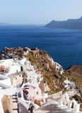 Santorini island, Greece. Beautiful landscape with sea view Royalty Free Stock Image
