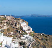 Santorini island, Greece. Beautiful landscape with sea view Royalty Free Stock Images