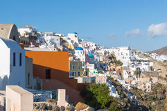 Santorini island, Greece. Beautiful landscape with sea view Stock Image