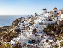 Santorini island, Greece. Beautiful landscape with sea view Stock Photography