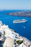 Santorini island, Greece. Beautiful landscape with sea view Stock Photo