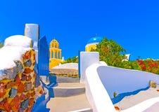 In Santorini island in Greece Stock Images