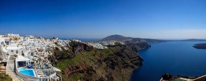 Santorini island, Greece - Caldera over Aegean sea Royalty Free Stock Photos