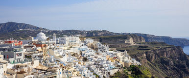 Santorini island, Greece - Caldera over Aegean sea Royalty Free Stock Images