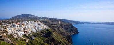Santorini island, Greece - Caldera over Aegean sea Stock Images