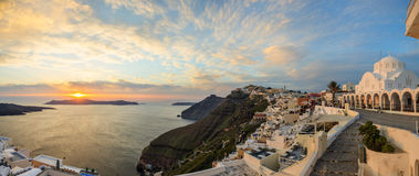Santorini island, Greece - Caldera over Aegean sea Royalty Free Stock Photo