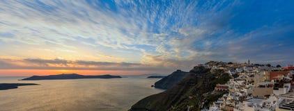 Santorini island, Greece - Caldera over Aegean sea Royalty Free Stock Image