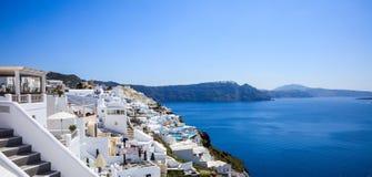 Santorini island, Greece - Caldera over Aegean sea Stock Image