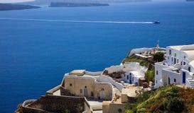 Santorini island, Greece - Caldera over Aegean sea Stock Photography
