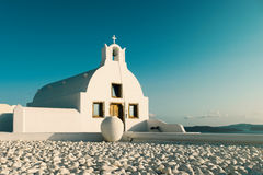 Santorini island in Greece, Chapel in Oia village Stock Photography